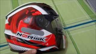 Unboxing Capacete Norisk Modelo FF389 Team Is The Thing Gloss Red Fluor