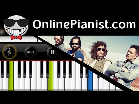 How to play Human by The Killers - Piano Tutorial & Sheets (Intermediate & Easy)