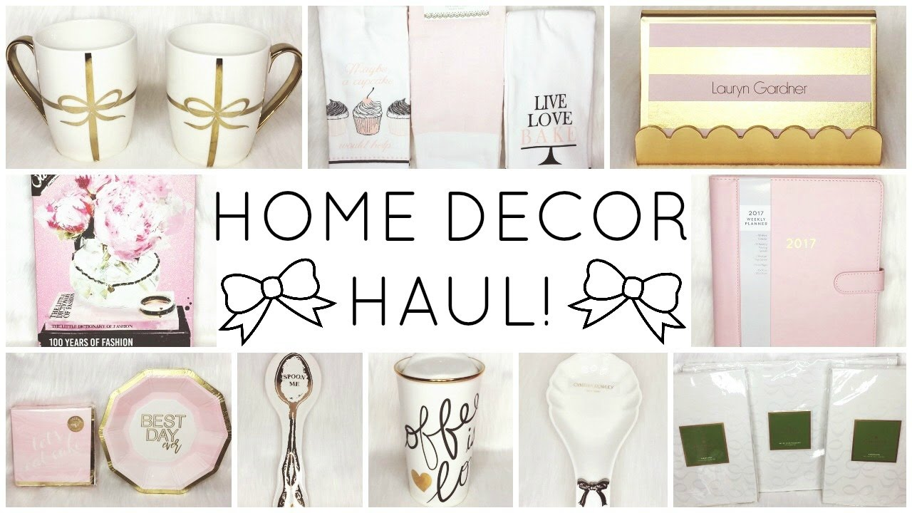 GIRLY HOME DECOR HAUL! ♡ HomeGoods, TJ Maxx, Marshalls, Target, Kate Spade  U0026 Oliver Gal   YouTube