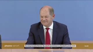 Bundespressekonferenz: Bundesfinanzminister Olaf Scholz (SPD) zum Bundeshaushalt 2020 am 26.06.19