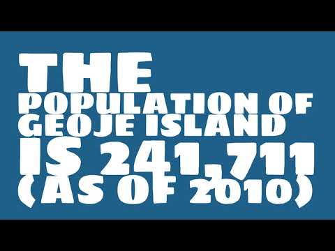 What is the population of Geoje Island?