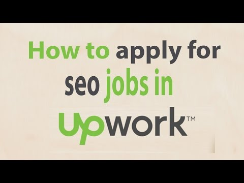 How to apply for seo jobs in upwork