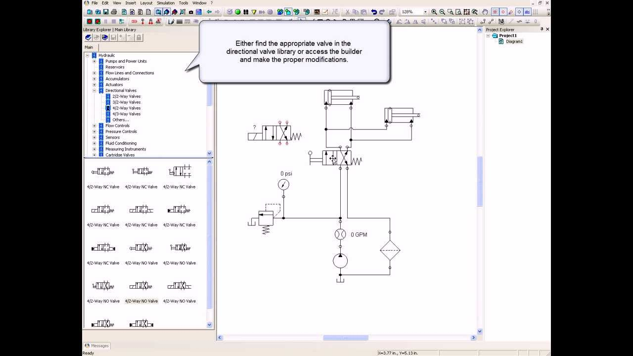 selenoid valve and relay circuit electro hydraulics automation studio educational edition [ 1280 x 720 Pixel ]