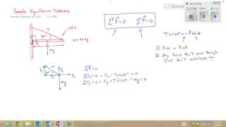 Sample Equilibrium Problem