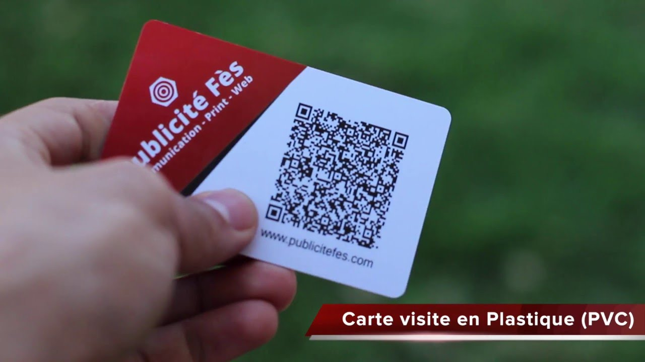 Creation Carte De Visite Au Maroc PVC