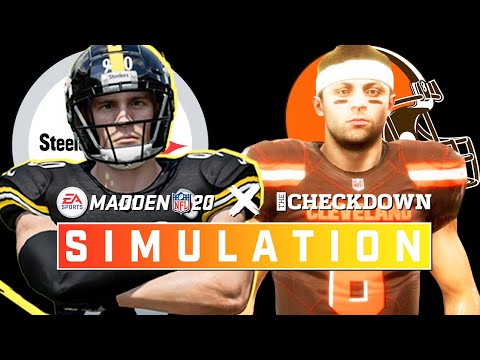 Steelers Vs. Browns Week 17 Full Game | Madden 2020 Season Simulation