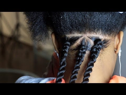 How To - Triangle Senegalese Twist  // REGULAR SPEED
