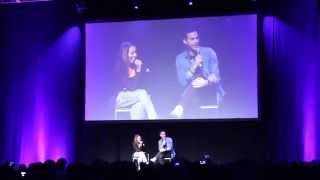 Chris Wood and Kat Graham improv Bane/Batman speed date - Bloody Night Con, Brussels
