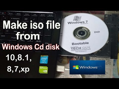How To Make Iso File From Windows 10,8.1,8,7,xp Cd Disk|creat Iso(image) File Of All Windows OS|