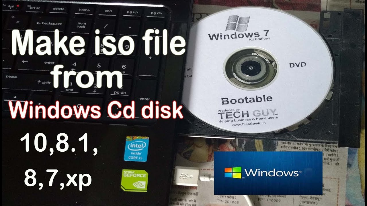 How to make iso file from Windows 10,8 1,8,7,xp cd disk|creat iso(image)  file of all Windows OS|