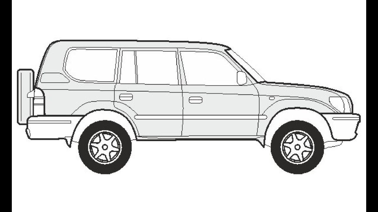 How to Draw a Toyota Land Cruiser KJ/VJ 95 / Как