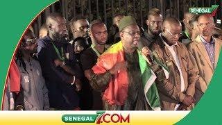 Le Discours du Président qui remercie les joueurs et tout le staffs.....