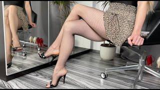 Bupshi - various heels  fishnet tights