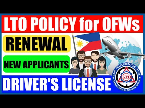 LTO POLICY For OFWs | DRIVER'S LICENSE RENEWAL | HOW TO APPLY