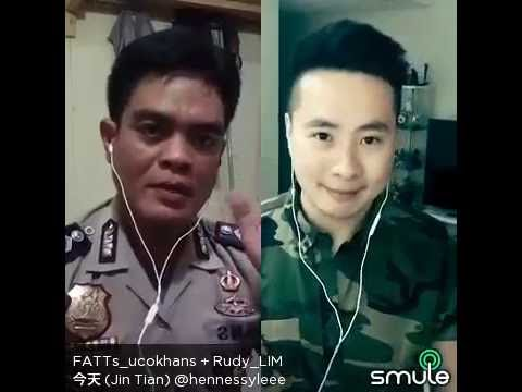 CHING TIEN version INDONESIAN smule aplikasi karaoke  Turn Back Of Andy Lau  by Ucok Hans feat Rudy