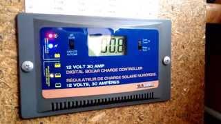 солнечные панели реальная мощность в зимние время(5 панелей каждая по 100 вт. в летние время одна вырабатывает 5.5 ампера. Cтойка для солнечной панели видео...., 2015-01-10T13:49:06.000Z)