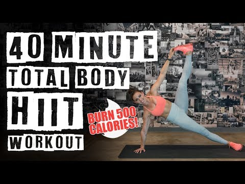 40 Minute Total Body HIIT Workout 🔥Burn 500 Calories! 🔥