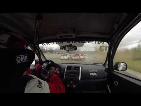 2016 Nissan Micra Cup Calabogie Race Crazy Start Crash