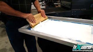 Screen Printing White on Black - 1-Pass vs. Print-Flash-Print