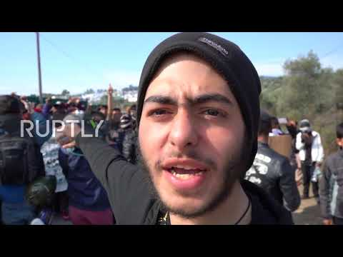 Greece: Migrants at Moria camp demand passage to Europe during protests