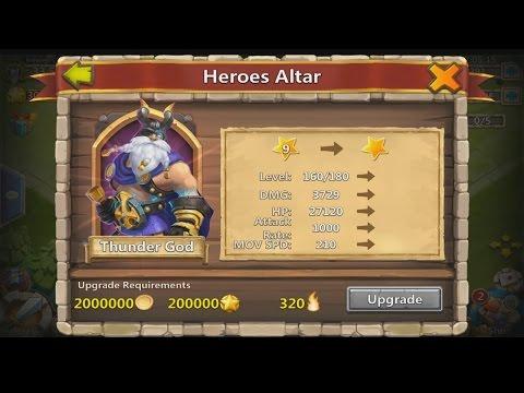 Castle Clash - Second 9 Star Hero Thunder God!! | Monster Spirit Mage!!!