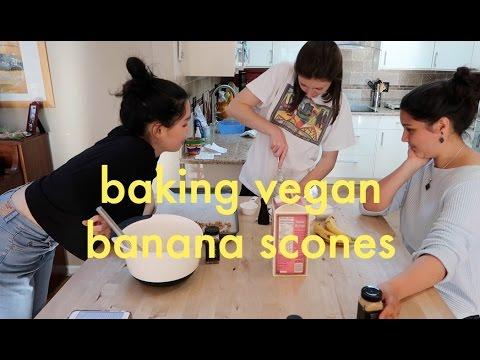 baking vegan banana scones 🍌✨