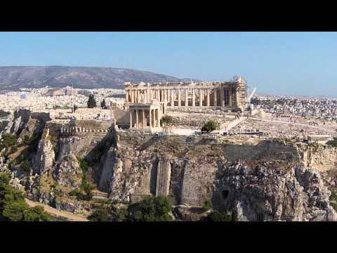 Beautiful places in the world : Greece Acropolis of Athens / Akropol ateński Aerial Video