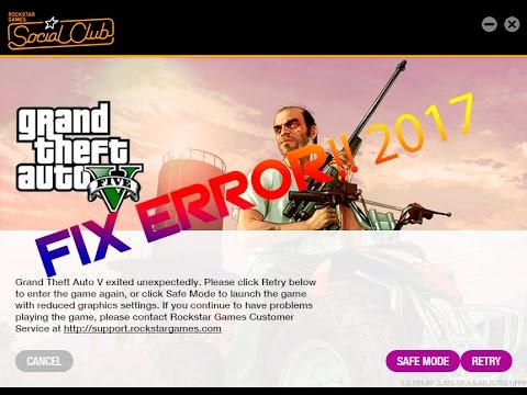 Fix Rockstar Social Club ERROR 2017!!