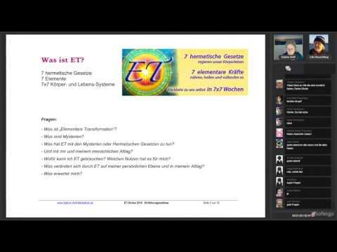Download Youtube: ET Online 2016 mit Sabine Wolf  - Einführung