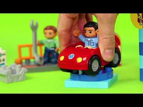 LEGO DUPLO Traktör, Vinç, Ekskavatör ve Yeni - Itfaiyeci oyuncak - polis arabası - Excavator Toys |