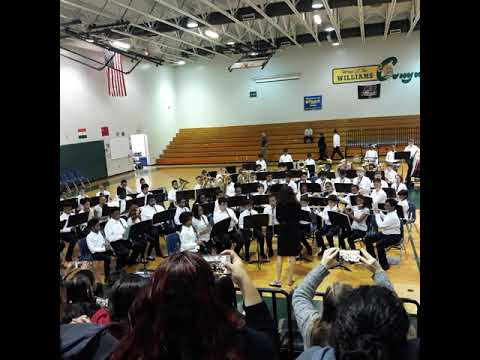 WILLIAMS MIDDLE MAGNET SCHOOL 7TH GRADE BAND CONCERT 2018