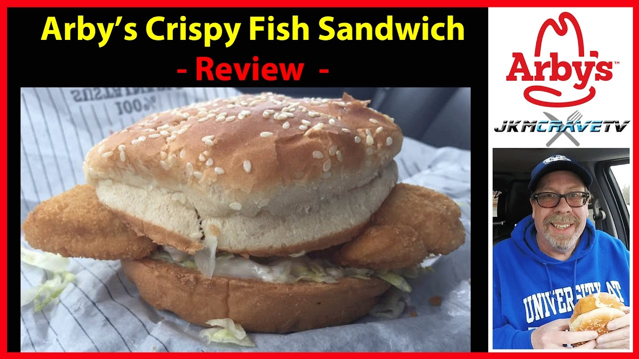Arby 39 s new crispy fish sandwich review jkmcravetv youtube for Arby s fish sandwich