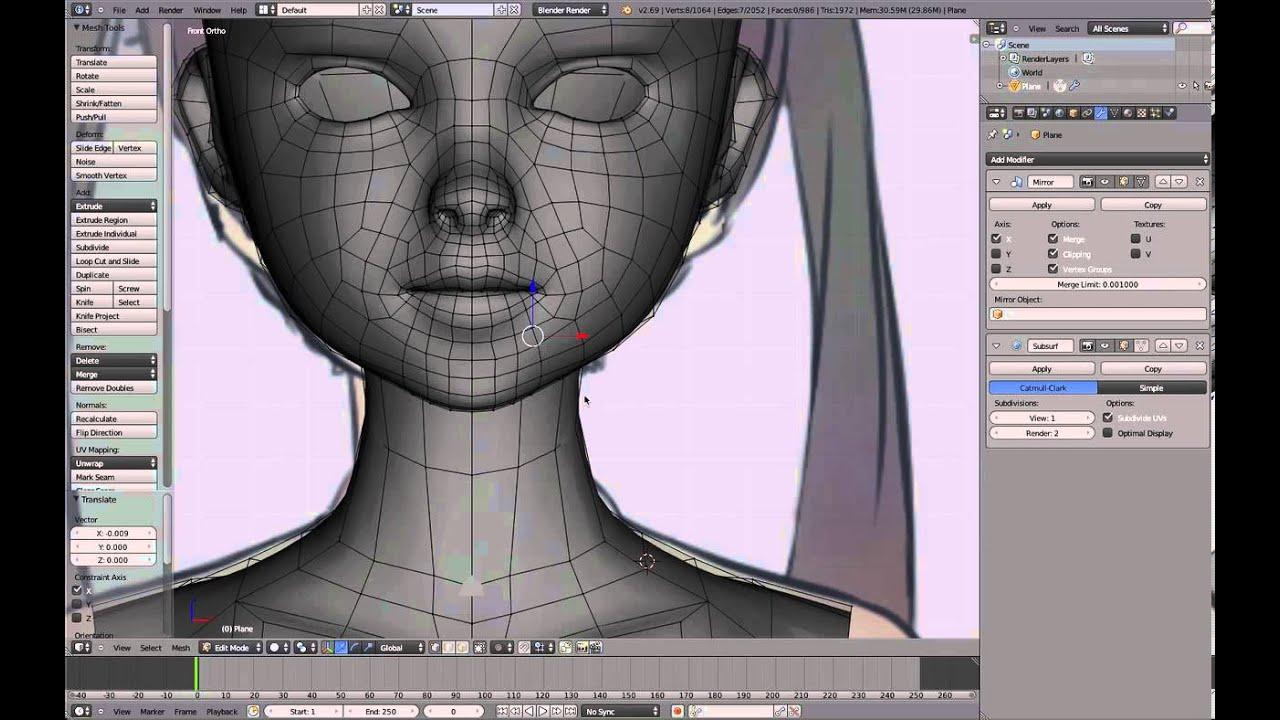 Character Modeling In Blender Lynda : Part blender anime character modeling tutorial