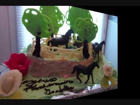 fondant cake gateau d anniversaire les chevaux