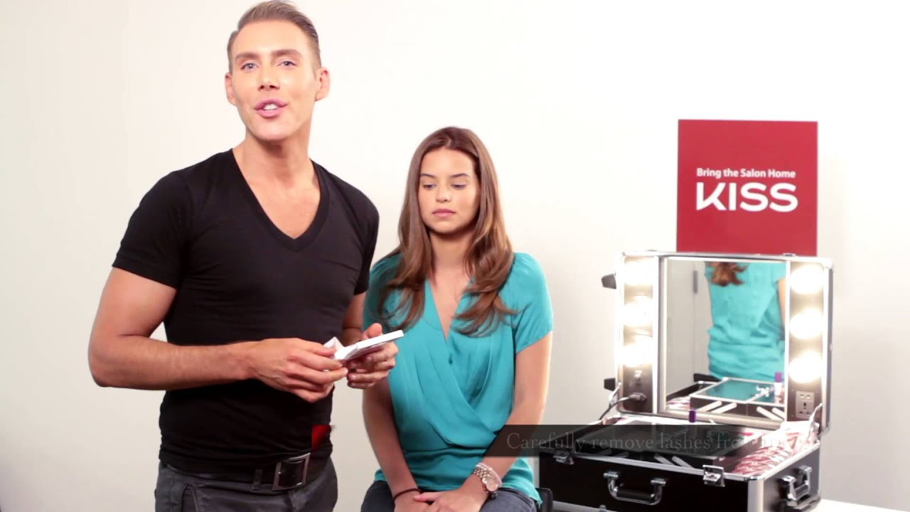 e502415fbad How to Apply Kiss Looks So Natural Lashes with Kristofer Buckle ...