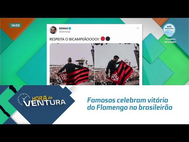 Famosos celebram vitória do Flamengo no brasileirão