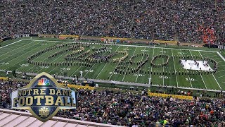 Rock band 'Chicago' plays with Notre Dame band at halftime | NBC Sports