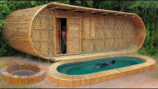 [ Full Video ] Building Jungle Villa and Swimming Pool With Décor Private Living Room