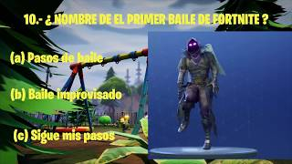 TEST PARA SABER QUE TAN FAN DE FORTNITE ERES N1 fortnite battle royale