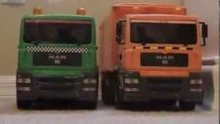 Toy Trucks Garbage Dump Flatbed Man Trucks