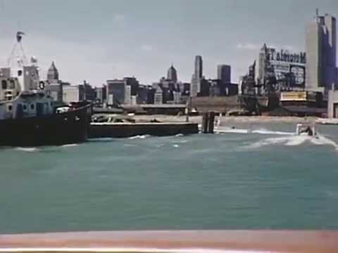 1956 Chicago River Boat Ride