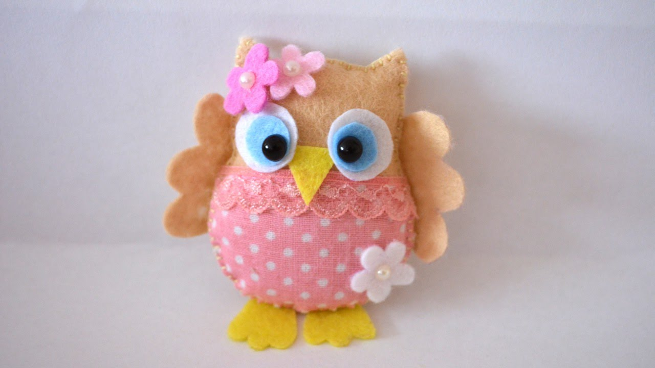 How To Make A Pretty Felt And Fabric Owl