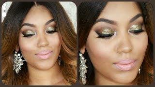 Glam Glittering Utopia | Smokey & Sultry Full Face Party Makeup Tutorial Thumbnail