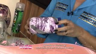 Aprenda a técnica de marmorização em vidro por imersão!