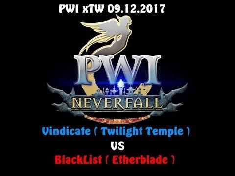 PWI xTW Season 13: Vindicate ( Twilight Temple ) VS BlackList ( Etherblade ) 09.12.2017
