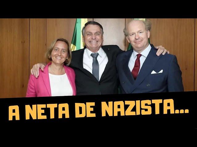 BOLSONARO SE ENCONTRA COM UMA NETA DE NAZISTA!!!