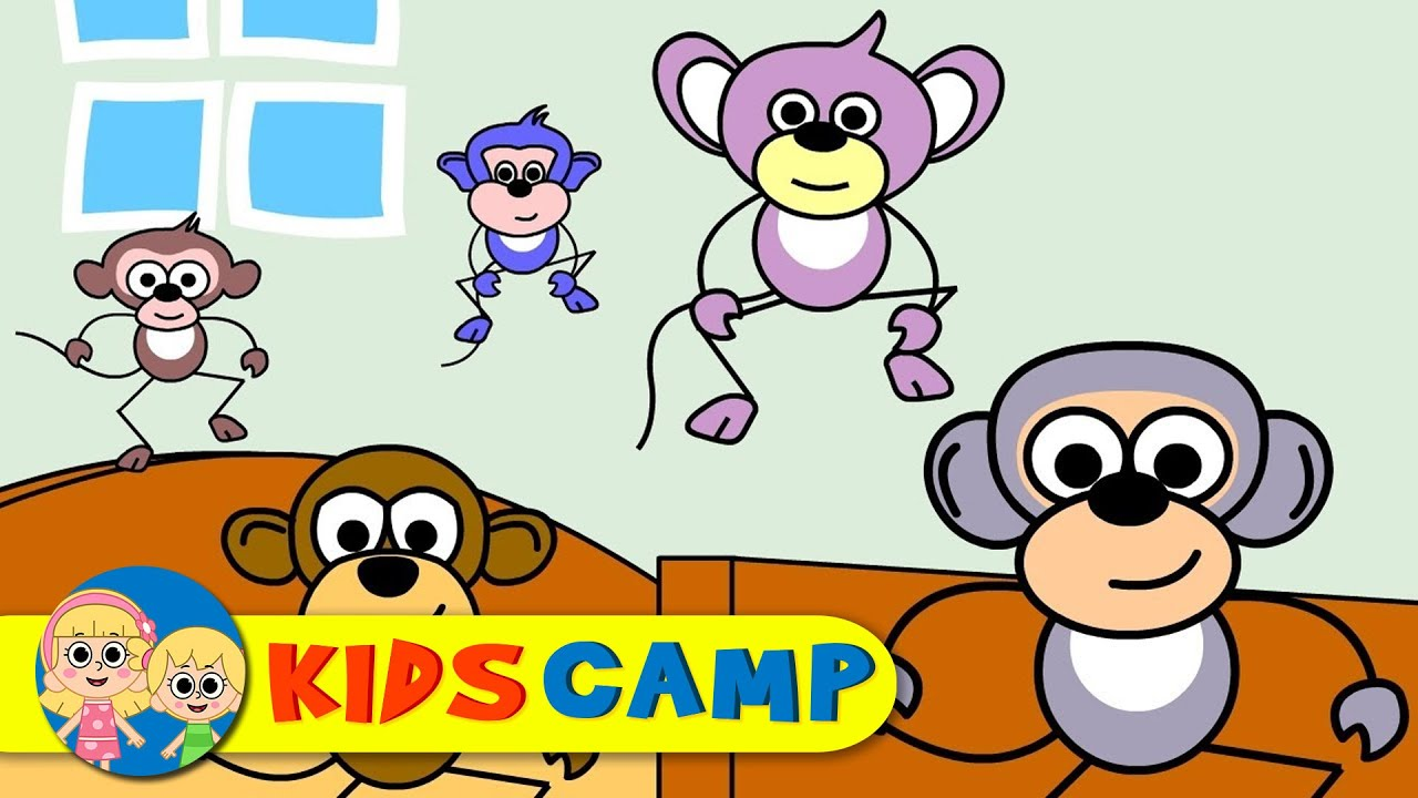 five little monkeys nursery rhymes popular nursery rhymes by kidscamp youtube make the bed clipart make bed clip art images