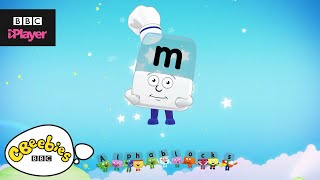 "Learn letter ""m"" with the Alphablocks Magic Words 
