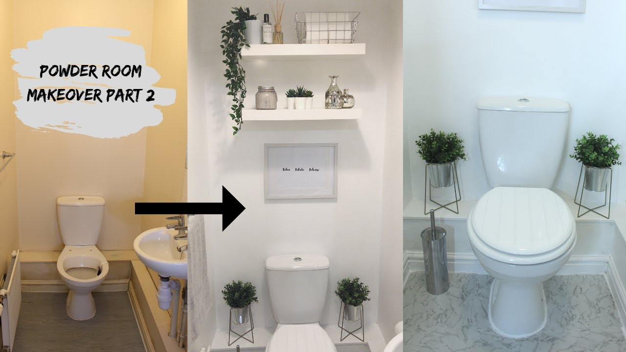 Powder Room Makeover  Mounting Ikea Persby Floating Shelves  Part 4