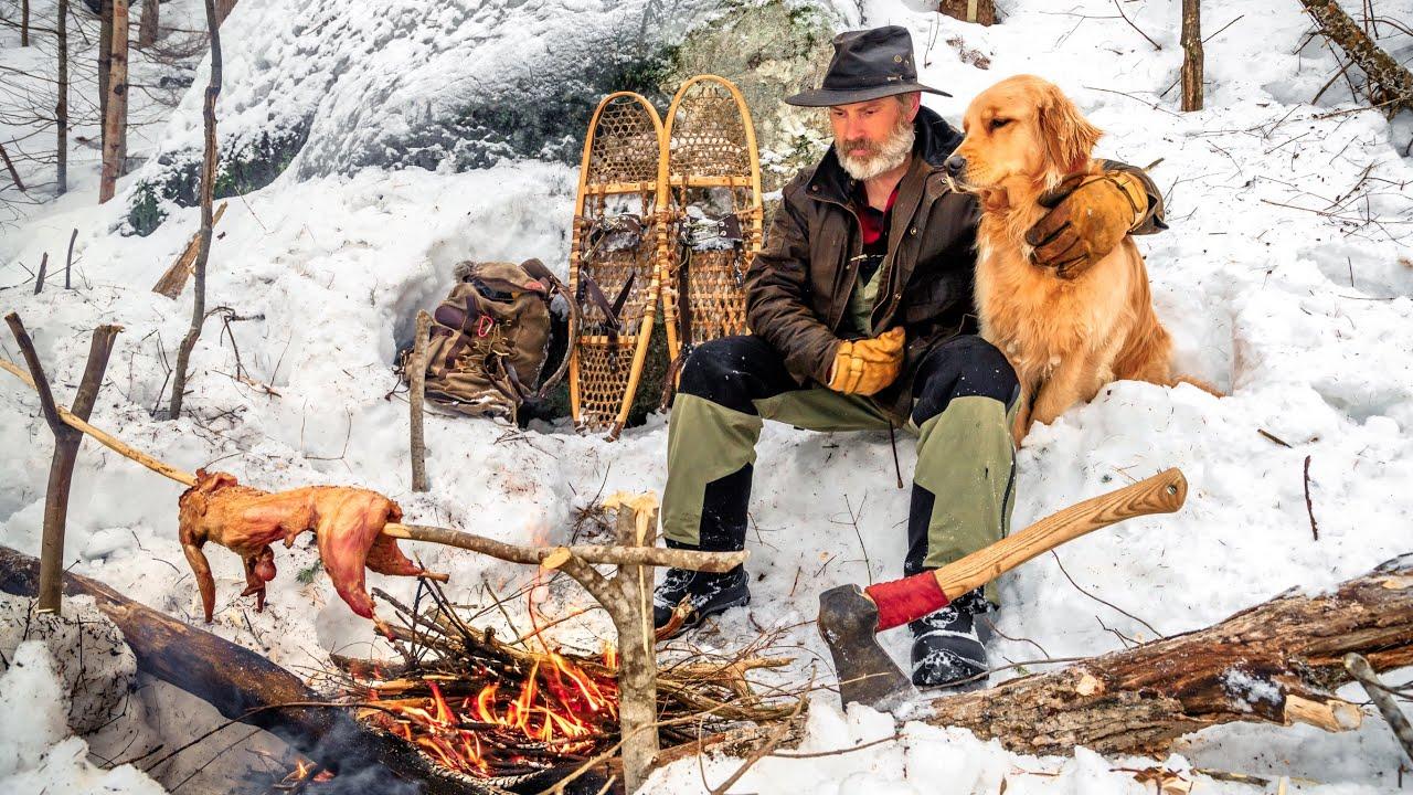 Winter Camping, Minimal Gear, Outdoor Cooking   Bushcraft ...